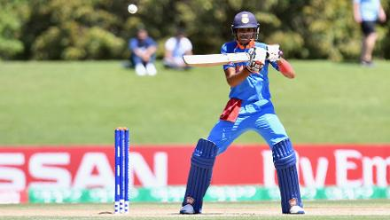 Shubman Gill of India cuts