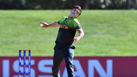 Muhammad Musa of Pakistan bowls