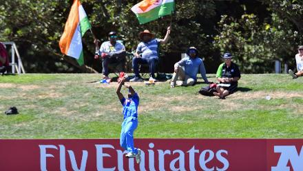 U19CWC POTD - Mavi's boundary catch