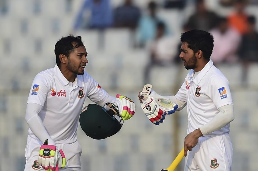 Mominul Haque and Mushfiqur Rahim put on 236 runs together on day one against Sri Lanka