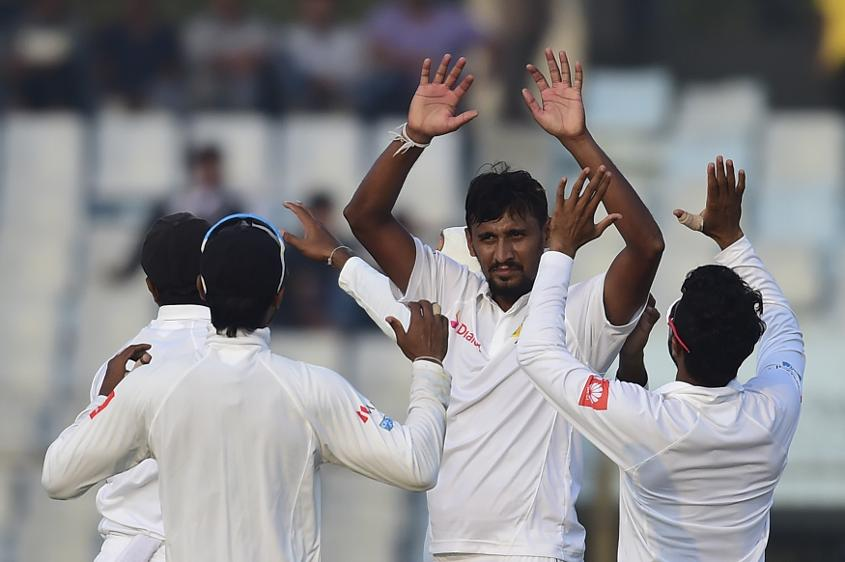 Suranga Lakmal struck twice with the new ball to give Sri Lanka a late boost