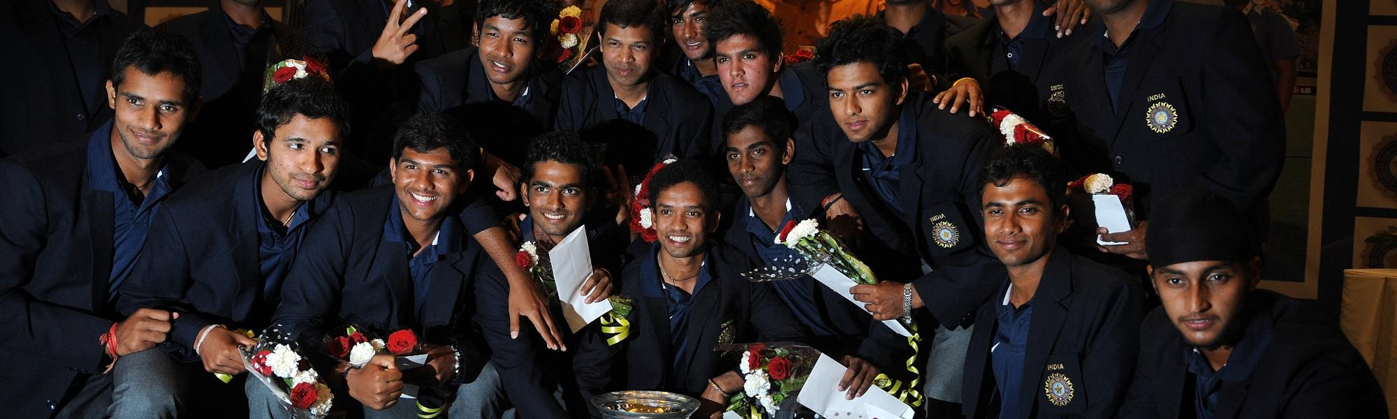 India team after their successful 2012 Under 19 CWC campaign