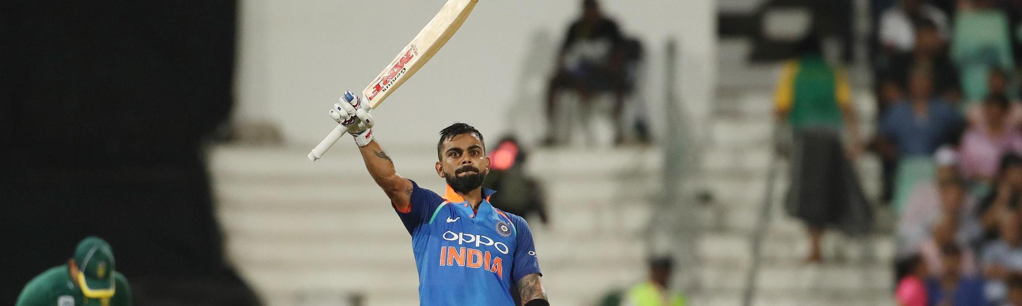 Kohli celebrates his 33rd ODI century