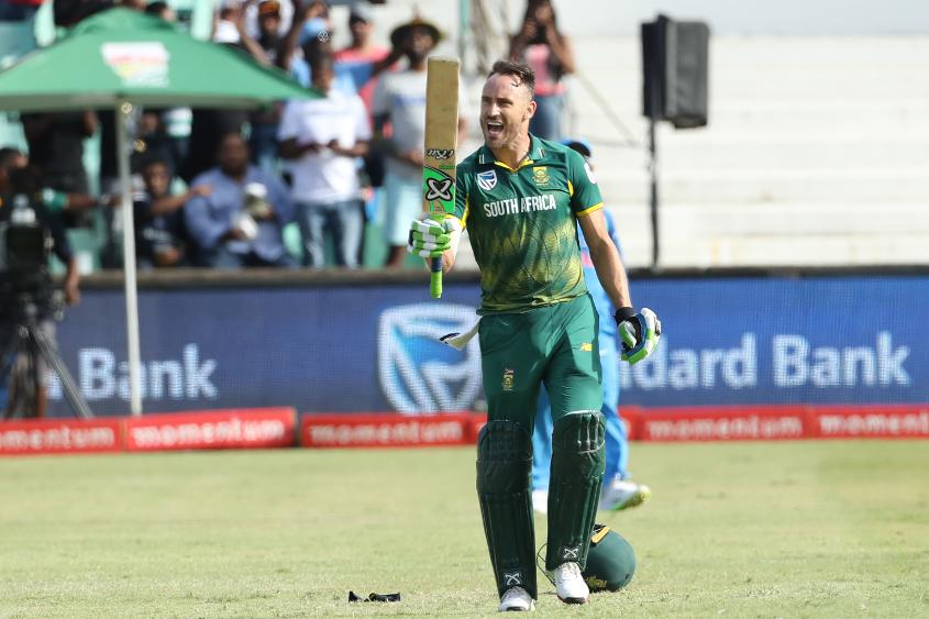 South Africa's captain registered a ninth ODI century