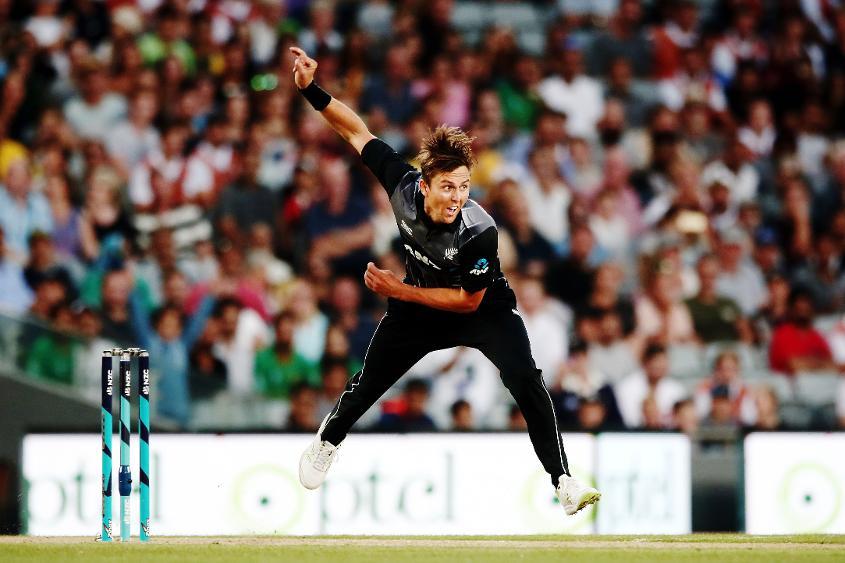 Trent Boult in action against Pakistan