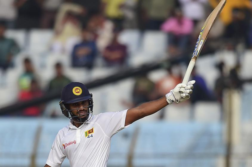 Roshen Silva finished the day 13 runs short of a maiden Test century