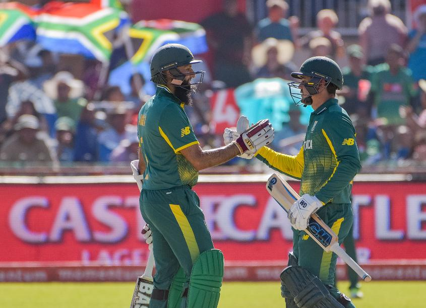 Hashim Amla (154) and Quinton de Kock (109) put on 187 for the first wicket in South Africa's last ODI at SuperSport Park