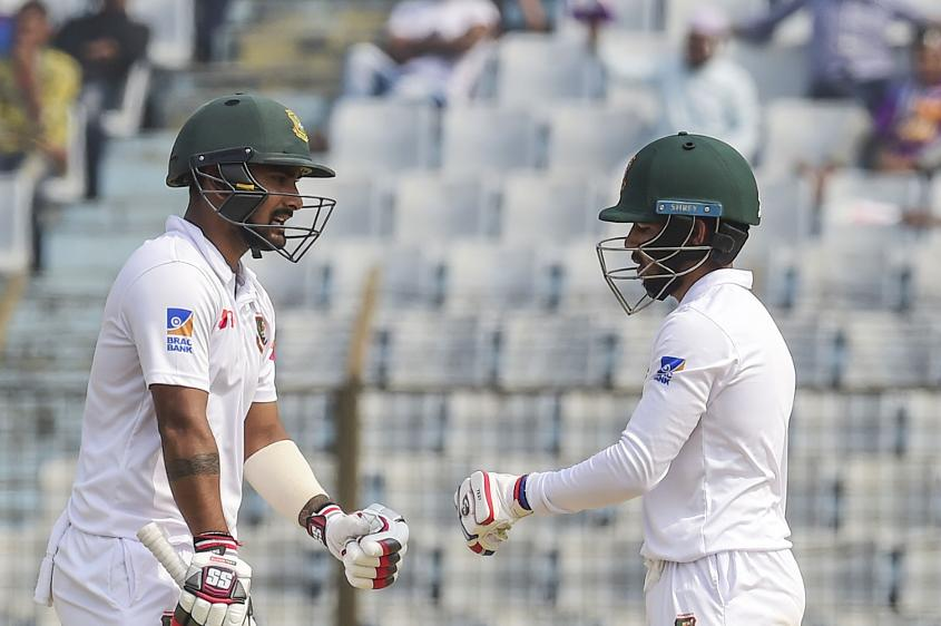 Mominul Haque and Liton Das put on 180 runs together to make the game safe for Bangladesh