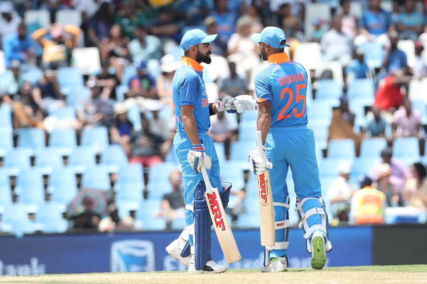 Shikhar Dhawan and Virat Kohli put on an unbeaten 97 to take Indian home with ease