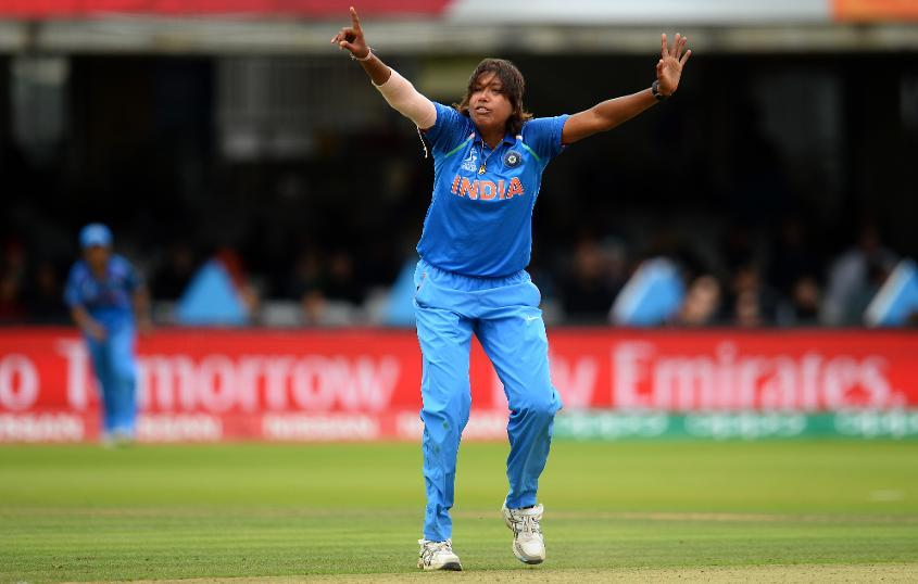 Jhulan Goswami returned to take the final three wickets and secure the game for India