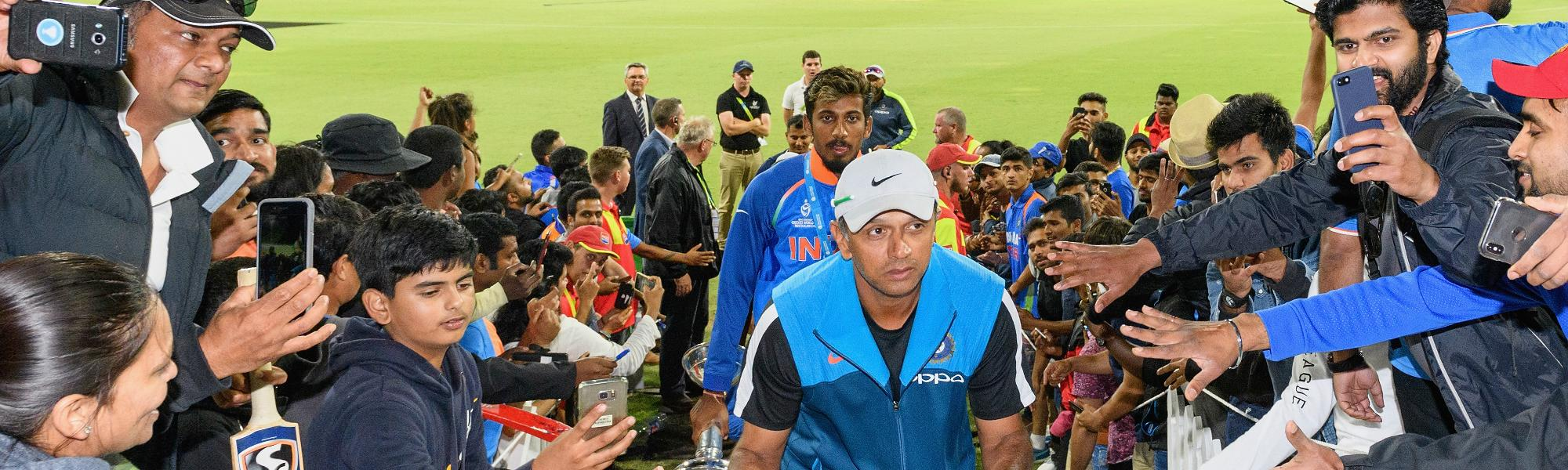If they go on to have successful first-class careers, then from thereon it becomes a stepping stone for international cricket, said Rahul Dravid.