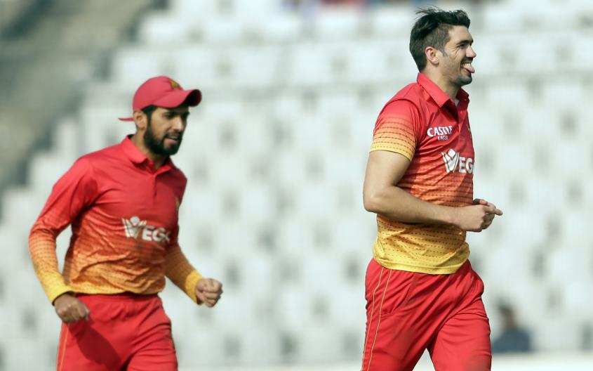 Zimbabwe skipper Graeme Cremer made the important breakthroughs of Karim Sadiq and Asghar Stanikzai