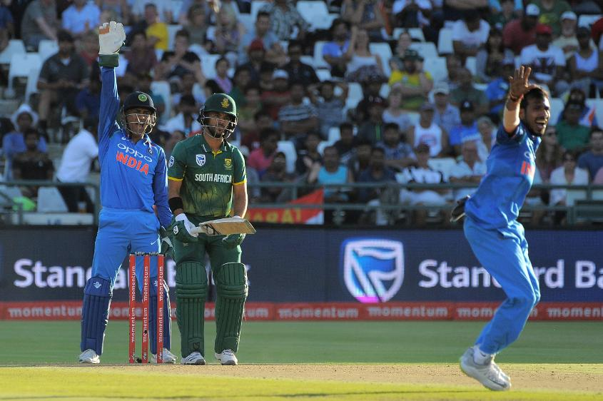 Yuzvendra Chahal took the potentially pivotal wicket of JP Duminy