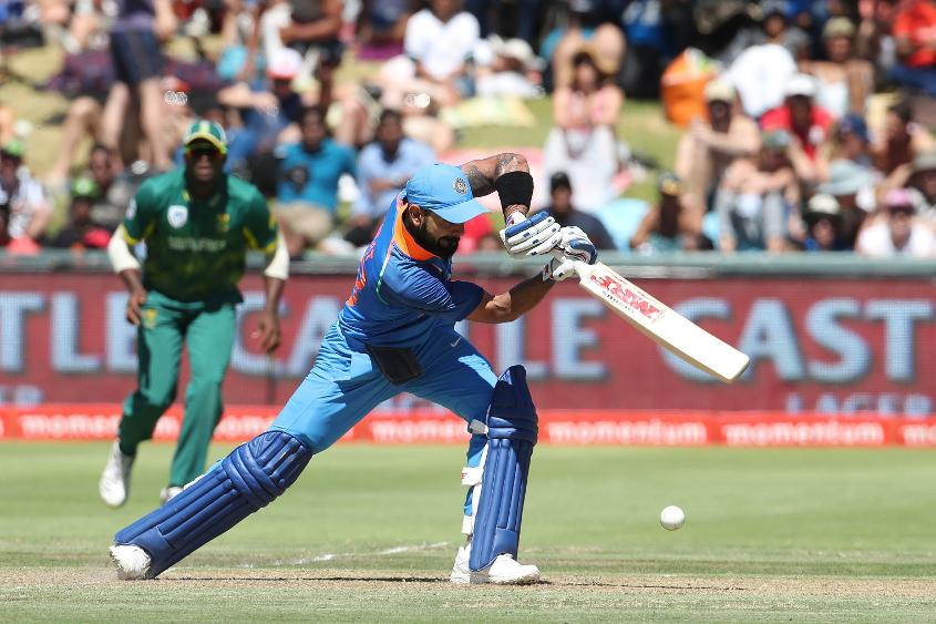Virat Kohli struck 12 fours and two sixes in his 160*