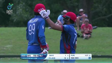 U19CWC Nissan Play of the Tournament - Mujeeb Zadran shows off his batting prowess
