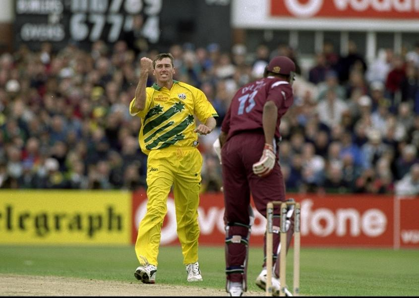McGrath took a superb 5/14 against West Indies at Old Trafford in 1999