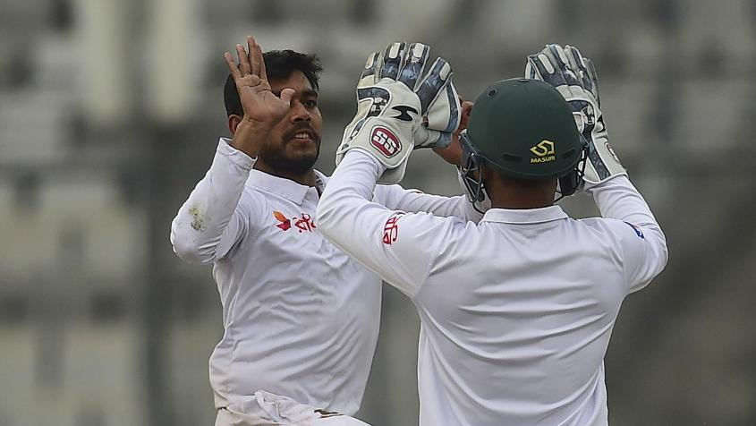 Mehidy Hasan did well with bat and ball on a poor day for Bangladesh.