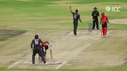 WCL Division 2: Bhavindu Adhihetty falls for a duck