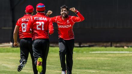 In the third match of the day Canada skittled Oman for 106