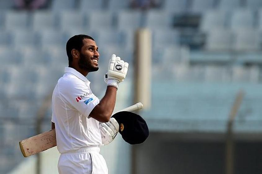 Roshen Silva had an outstanding Test on a tricky pitch, scoring 56 and 70 not out.
