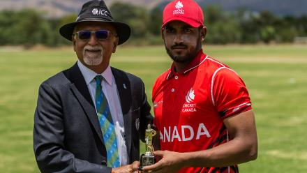 Nikhil Dutta was named Player of the Match after taking 3/11