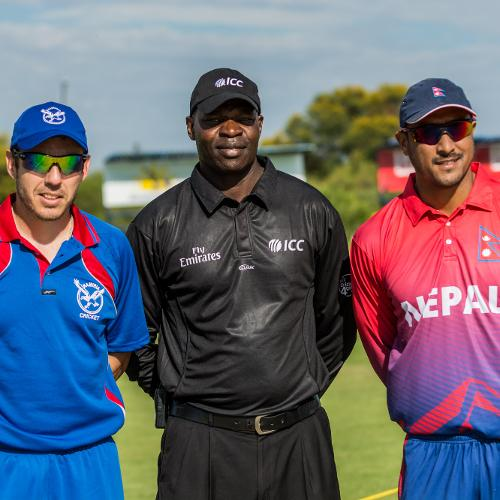 Namibia took on Nepal on day one of ICC WCL Division Two