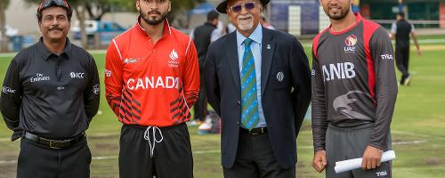 Canada and UAE, who both won their first games, met at the Wanderers Cricket Ground