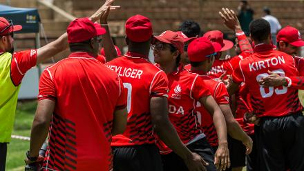 Canada chased down their target eight wickets down in 15.4 overs