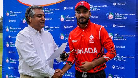 Canada's captain Nitish Kumar was named Player of the Match after scoring 62