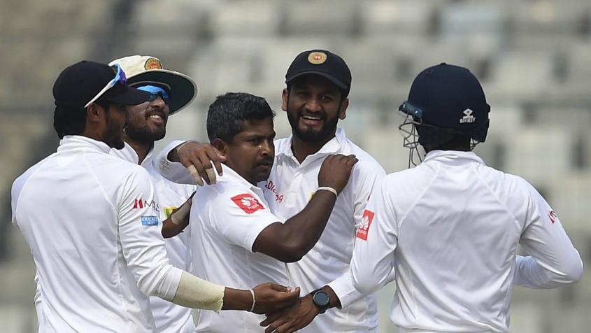 Rangana Herath picked up four wickets to become the most successful left-arm bowler in Test history.