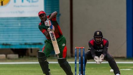 Kenya could only manage 91 all out in reply and fell to a 218-run defeat
