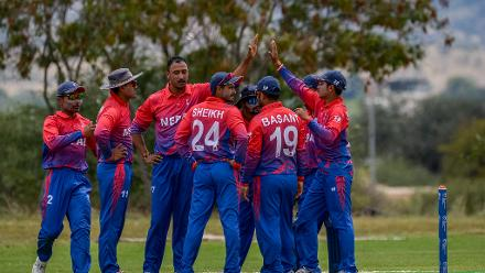 Sompal Karni was the pick of the bowlers, returning figures of 4/30 as Nepal dismissed UAE for just 114