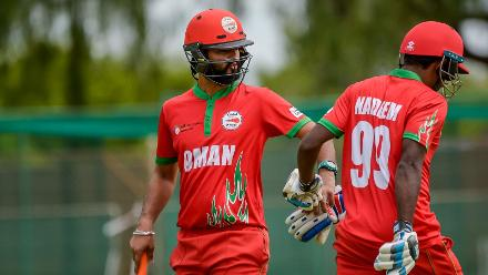 Jatinder Singh (29), Mohammed Nadeem (26) and Jay Odedra (26) were the mainstays of Oman's batting unit