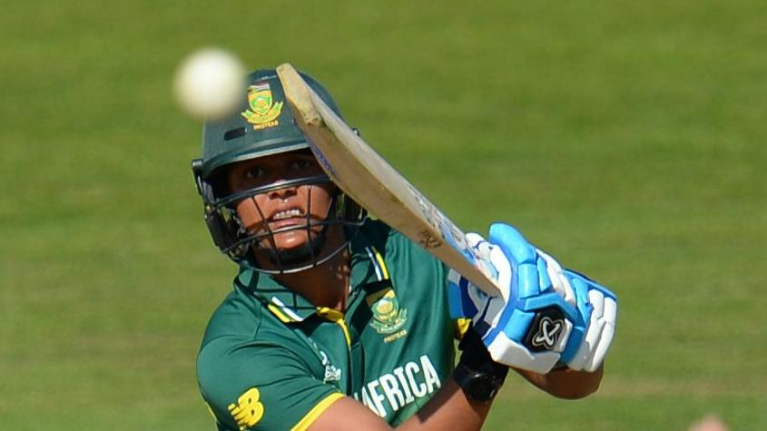 Chloe Tryon scored a ballistic 32 not out from seven balls to lift the South Africa total