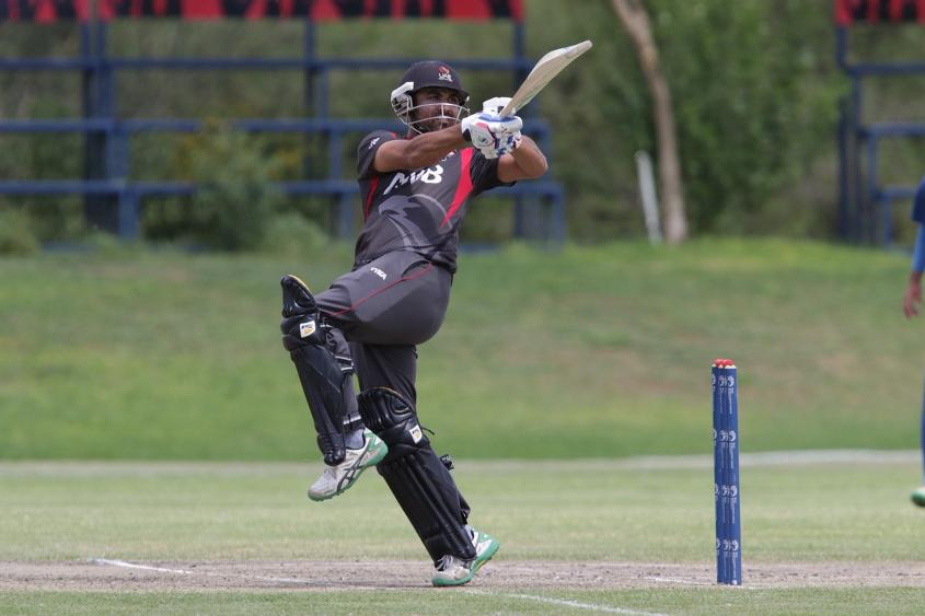 UAE beat Namibia by 19 runs to stay in the hunt for World Cup glory