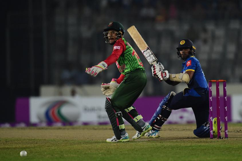 Kusal Mendis struck eight fours and two sixes in his 27-ball stay