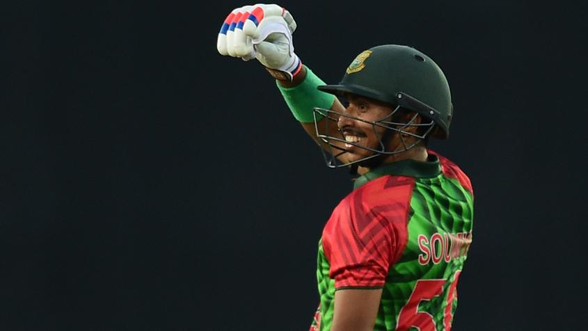 Soumya Sarkar was expansive for Bangladesh in the first 10 overs