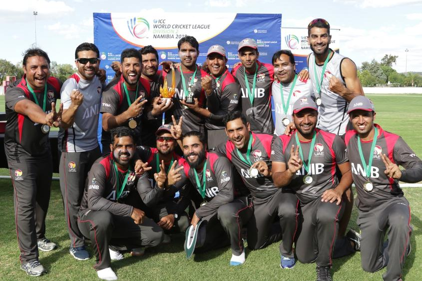 The UAE are crowned champions of the ICC World Cricket League Division 2.jpeg