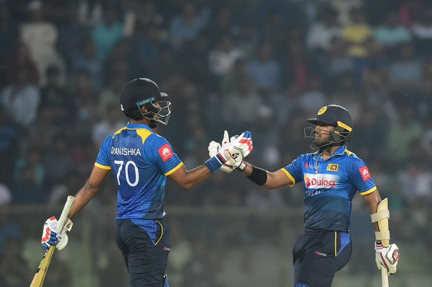Danushka Gunathilaka and Kusal Mendis shared a brisk opening stand of 98