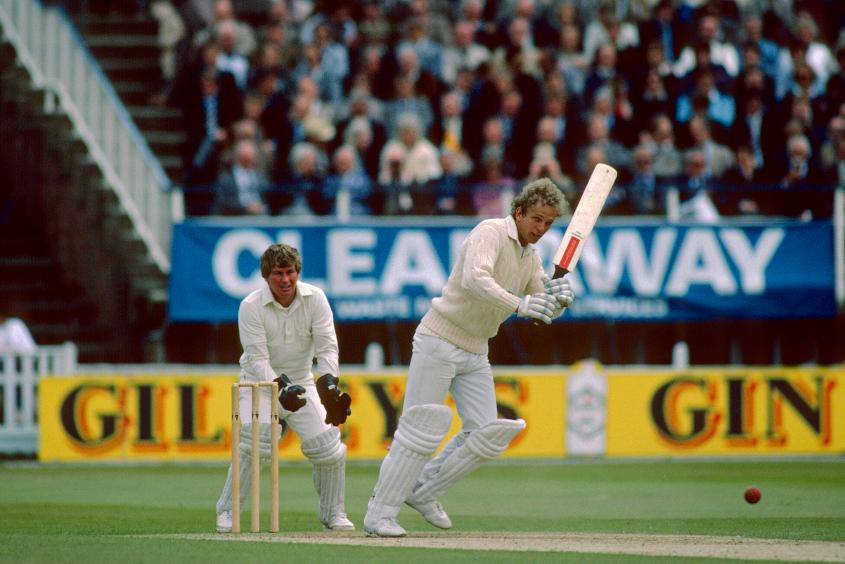 David Gower top scored for England with 92 not out