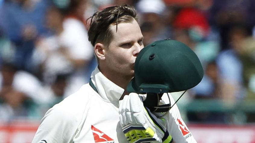 Steve Smith scored 111 in the first innings, the only century in the Test