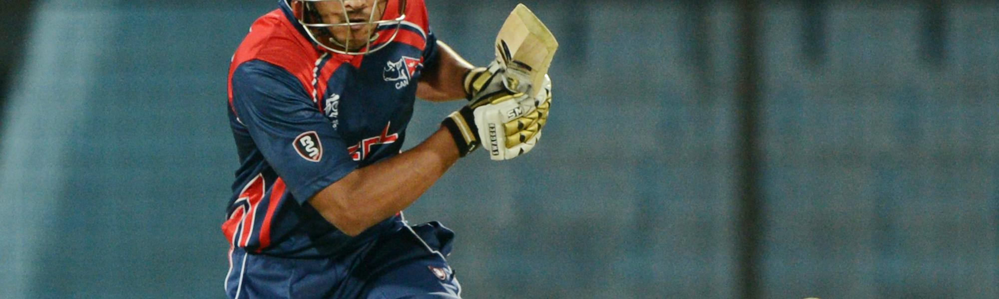 Paras Khadka, the Nepal captain, is one of the more experienced members of the young team