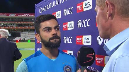 Virat Kohli handed the ICC Test mace