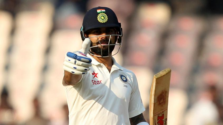 Virat Kohli scored 204 in just under five hours in the Indian first innings