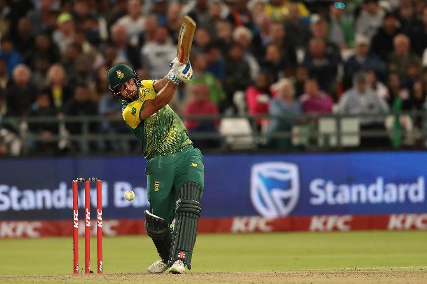Christiaan Jonker struck five fours and two sixes on debut to take South Africa close