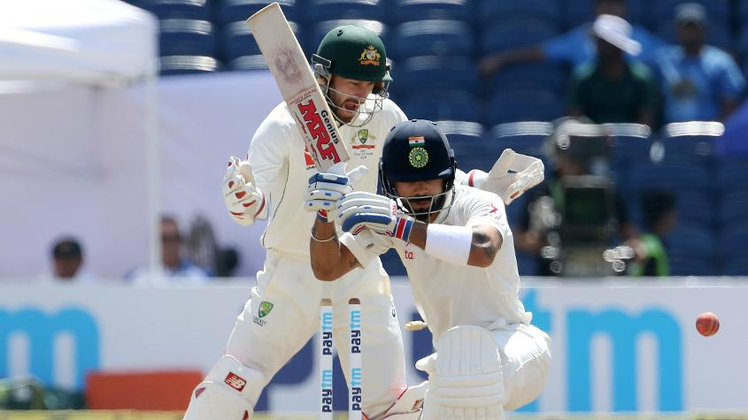 Virat Kohli could only muster 13 runs in the match - the lowest for him in a home Test when batting in both innings