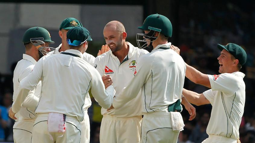 Nathan Lyon ended with figures of 8/50 in the first innings bowling India out for 189