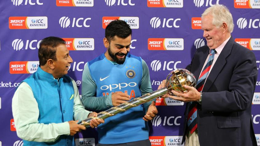 The win ensured India retained the ICC Test Championship mace, which Virat Kohli received from Sunil Gavaskar and Graeme Pollock at the end of the tour
