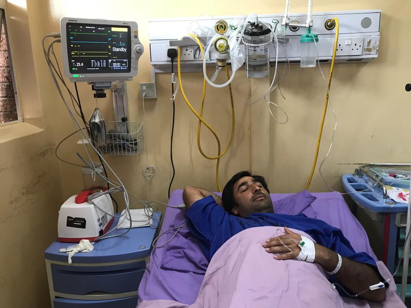 Asghar Stanikzai underwent surgery to remove his appendix