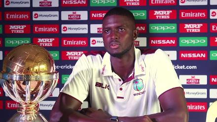 West Indies captain Jason Holder speaks before the ICC Cricket World Cup Qualifier